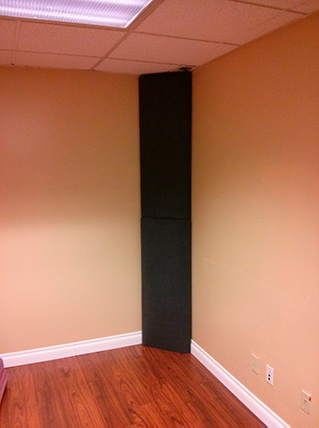 DIY bass traps for home studio