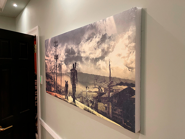 Acoustic Panel with custom print on the wall
