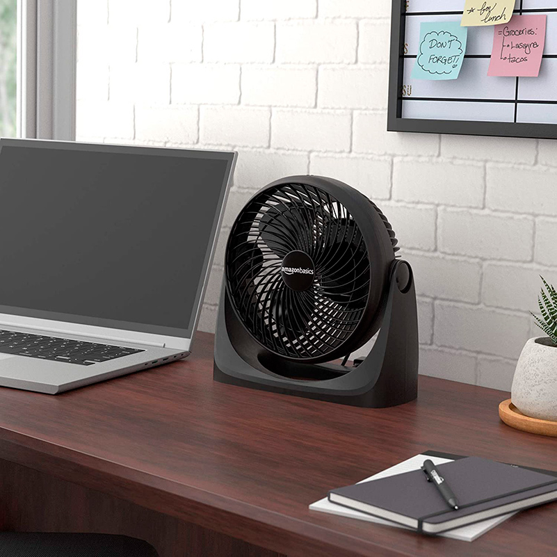 Small air circulator fan for home studio or office